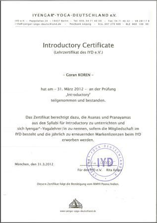 Itroductory cert